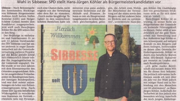 Hansi Koehler Buergermeister Kandidat